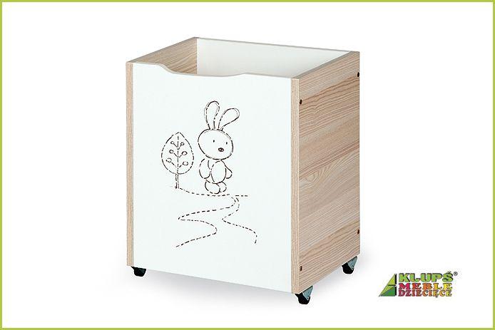 Klups Dřevěný box na hračky Safari zajíček