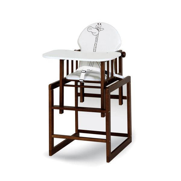 Anežka III Safari jídelní židlička žirafa ecruořech Klups