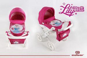 Adbor Kočárek pro panenky Lily White princezna
