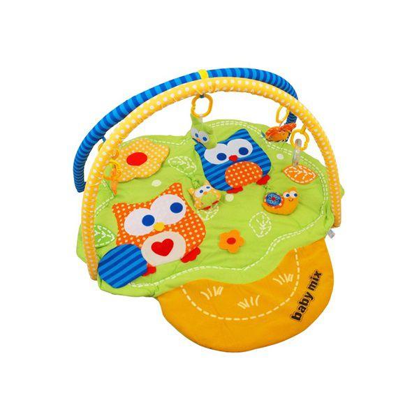 Baby Mix Hrací deka Sovičky