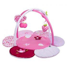 PlayTo Hrací deka kytička Růžová
