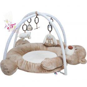 PlayTo Luxusní hrací deka s melodií medvídek Hnědá