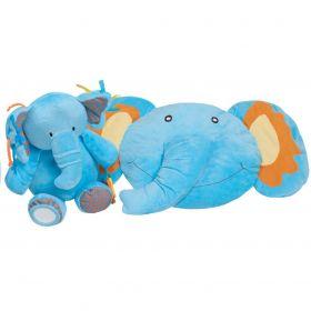 PlayTo Hrací deka s melodií slůně modrá
