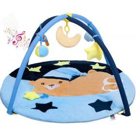 PlayTo Hrací deka s melodií spící medvídek modrá