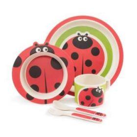 Zopa Bambusová sada nádobí Ladybird