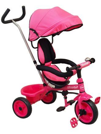 Baby Mix Tříkolka s vodící tyčí EcoTrike růžová