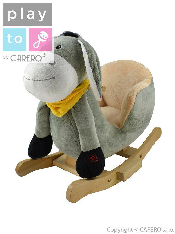 PlayTo Houpací hračka oslík šedá + ZÁRUKA 3 ROKY