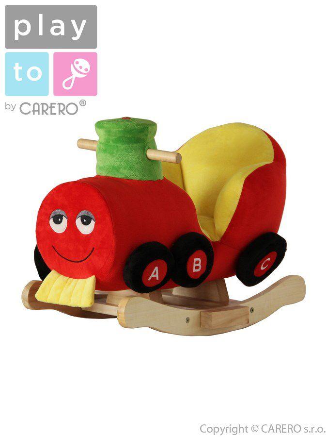 PlayTo Houpací hračka vláček Červená + ZÁRUKA 3 ROKY
