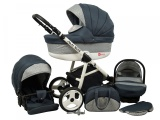 Raf-pol Baby Lux Alu way 2v1 2020 Dark Grey