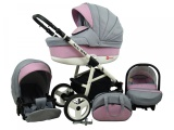 Raf-pol Baby Lux Alu way 2v1 2020 Light Pink