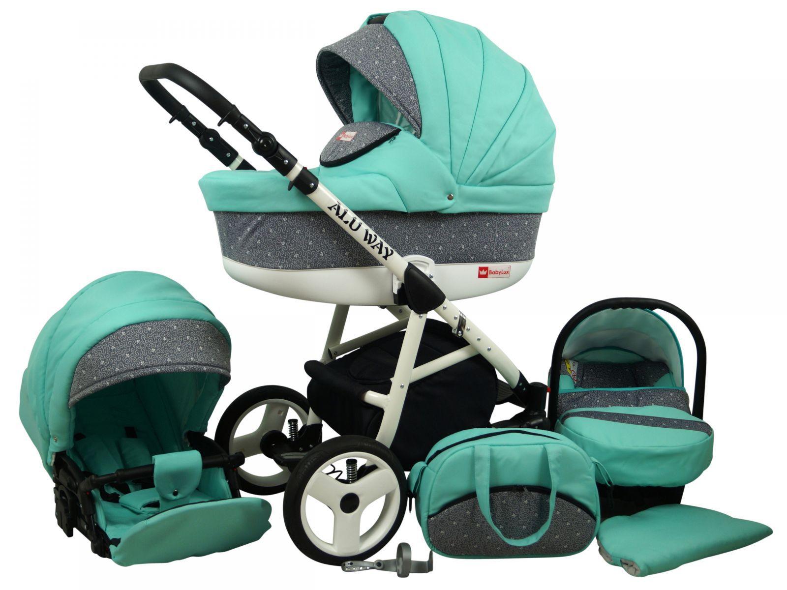 Raf-pol Baby Lux Alu way 2v1 2020 Mint + u nás ZÁRUKA 3 ROKY