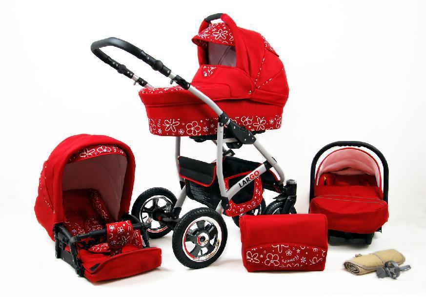 Raf-pol Baby Lux Largo 2020 Red Flowers + u nás ZÁRUKA 3 ROKY