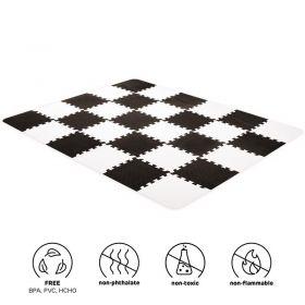 Kinderkraft Luno pěnové puzzle Black + u nás ZÁRUKA 3 ROKY