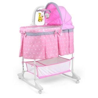 Milly Mally Multifunkční kolébka Sweet Melody pink + u nás ZÁRUKA 3 ROKY