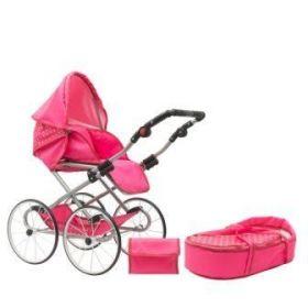 New Baby Retro 2v1 Anetka růžový s puntíky + u nás ZÁRUKA 3 ROKY