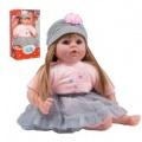 PlayTo Česky mluvící a zpívající panenka Nina 46 cm šedá