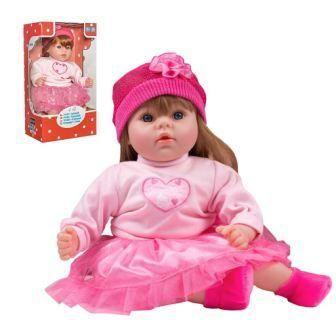 PlayTo Česky mluvící a zpívající panenka Tina 46 cm růžová + u nás ZÁRUKA 3 ROKY