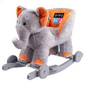 PlayTo houpací hračka s kolečky sloník