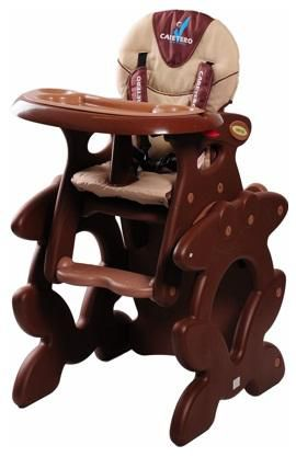 Jídelní židlička Caretero Primus Brown
