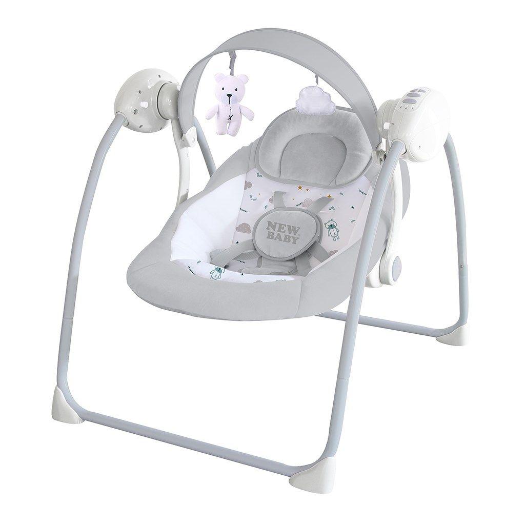 New Baby dětské houpací lehátko Teddy Gray + u nás ZÁRUKA 3 ROKY