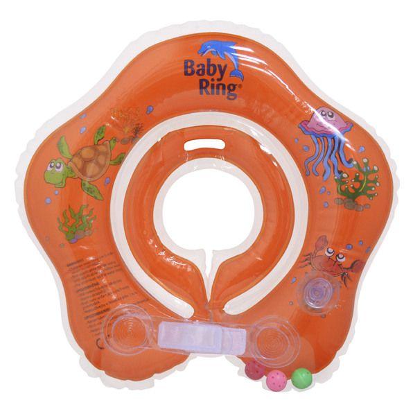 Babypoint koupácí kruh Baby Ring oranžová